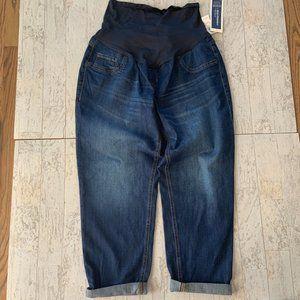 Old Navy Boyfriend Skinny Jeans Maternity 12 NEW!